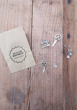 Stitch Markers Silver - Made by Frida