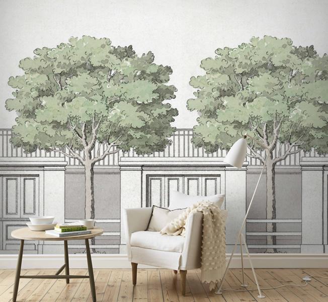Tapet med träd - Carlbergs träd - från Sandberg