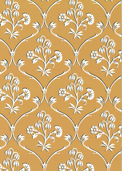 Gul tapet - Cranford - Från Little Greene