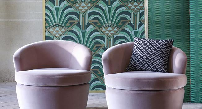 Grön Art Deco Tapet - Conway Poison - Från Zoffany