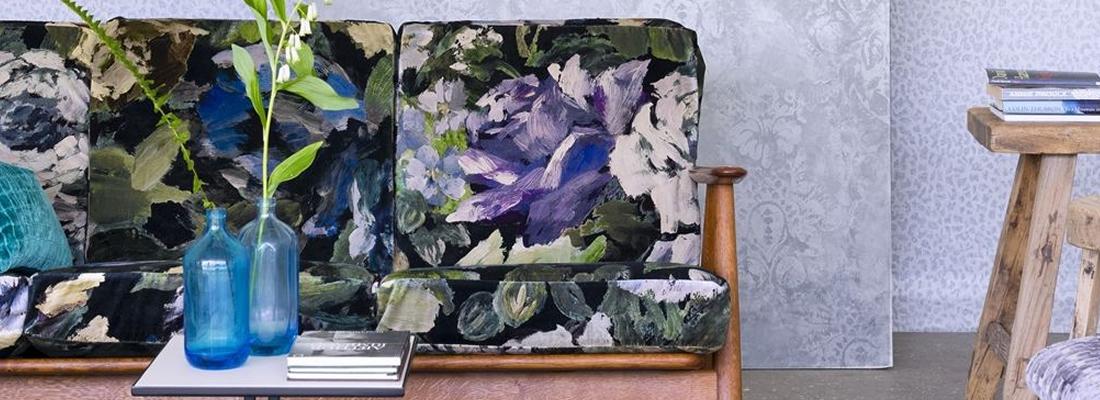Blommigt tyg - Bloomsbury Rosee - Från Designers Guild
