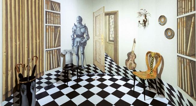 Tapet vägg med föremål - Magia Domestica - Från Fornasetti