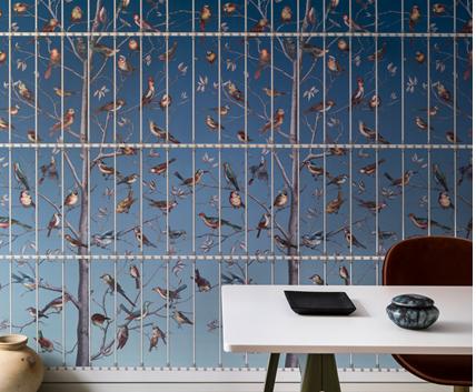 Tapet med fåglar - Uccelli - Från Fornasetti