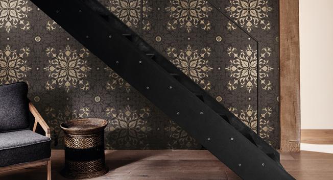 Stormönstrad medaljongtapet - Pure Net Ceiling - Från William Morris