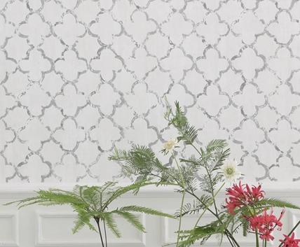 Klassisk vit trellistapet - Chinese - Från Designers Guild