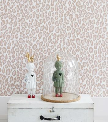 Tapet med rosa leopardmönster - Leopard - Intrade
