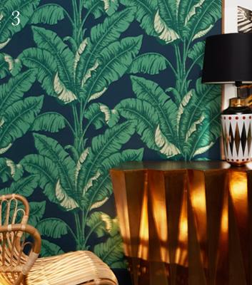 Tapet med palmblad - La Havane - Från Nobilis