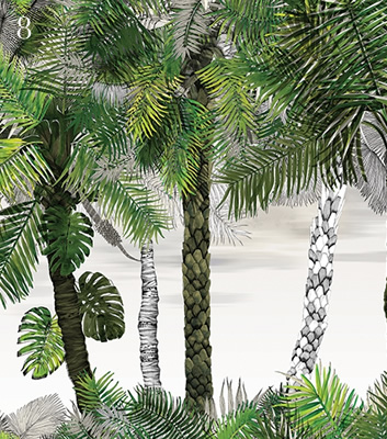 Fototapet med palmblad - Croisette - Från Christian Lacroix