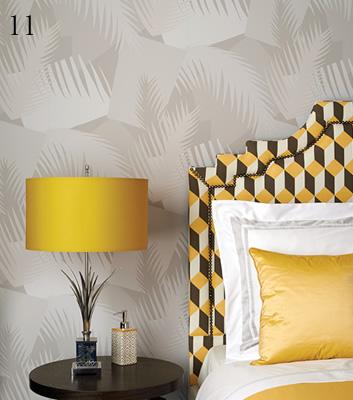 Tapet med grafiska mönster - Deco palm - Från Cole & Son