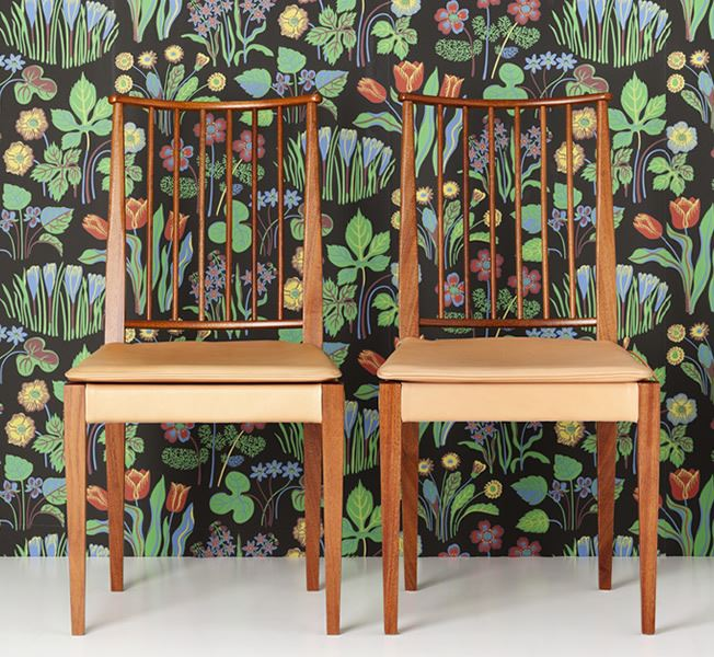 Retrotapet med blommor - Vårklockor - Från Josef Frank