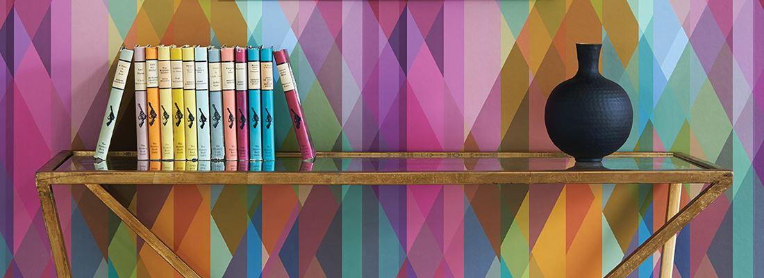 Färgglad geometrisk tapet - Prism - Från Cole & Son
