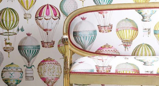Färgglad tapet med luftballonger - Lenvol - Från Manuel Canovas