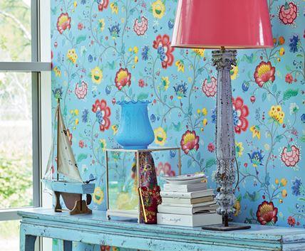 Färgglad tapet med blommor - Floral Fantasy - Från Pip