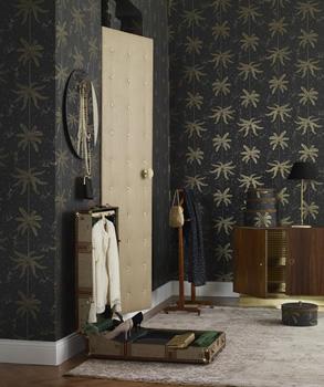 1920-tals tapet med palmblad - Mauritz - Från Sandberg