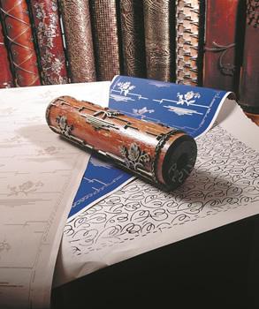 Traditionell tapettillverkning med valsar - 1800-tal