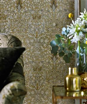 Histroiska tapeter från England, William Morris Snakeshead