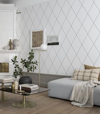 Grafisk Tapet - Robin - Från Sandberg