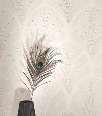 Art Deco tapet - Palmette - Från Casadeco