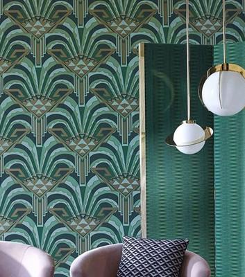 Art Deco tapet - Conway Poison - Från Zoffany