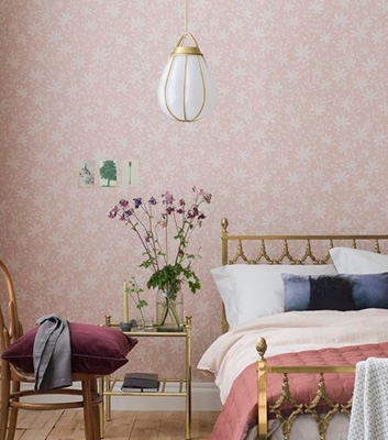 Rosa Tapet - Maple Leaf - Från Emma Von Brömssen