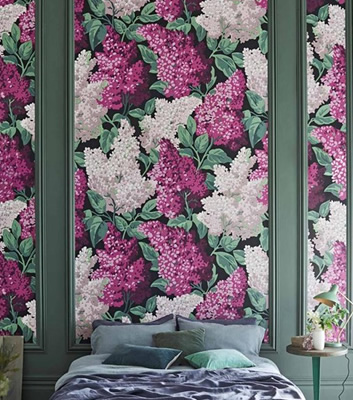 Blommig tapet - Lilac Grandiflora - Från Cole & Son
