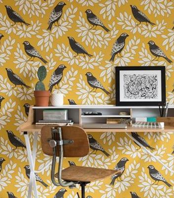 Tapet med fåglar - Songbird - Från Missprint