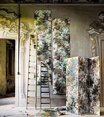 Blommig tapet - Lady Roxanna - Rubelli