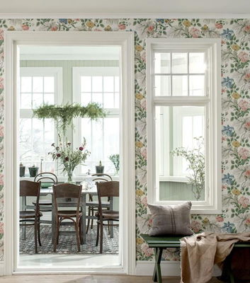 Blommig tapet - Carnation Garden - Från Boråstapeter