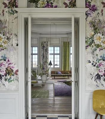 Blommig tapet - Aubriet - Från Designers Guild