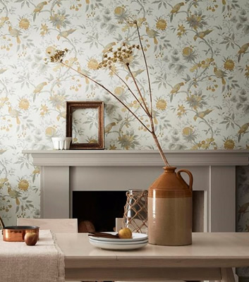 Blommig tapet - Brooke House - Från Little Greene