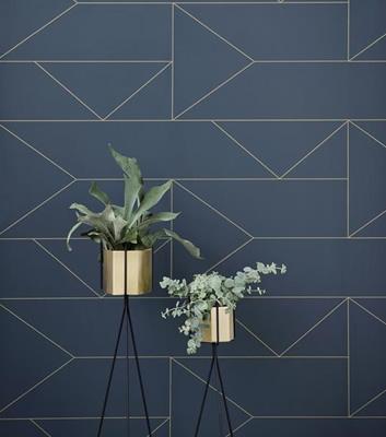 Grafisk Tapet - Lines - Från Ferm Living