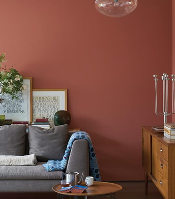 Röd färg - Red Earth 64 - Från Farrow & Ball