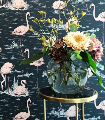 Tapet med fåglar - Flamingos - Från Cole & Son
