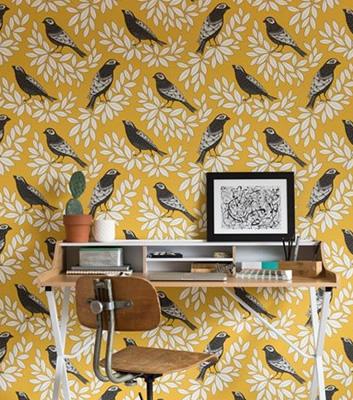 Tapet med fåglar - Songbird - Missprint