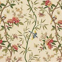 Baker Peony & Blossom Linen Tyg