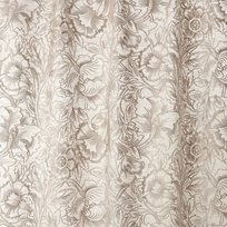 William Morris & co Pure Poppy Embroidery Tyg