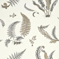 Baker Ferns Dove Grey/Silver Tapet