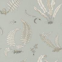 Baker Ferns Soft Blue Tapet