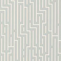 Baker Fretwork Soft Blue Tapet