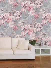 Jane Churchill Marble Rose Silver Tapet