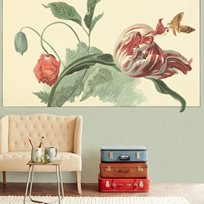 Intrade Tulip and Poppy sage Tapet