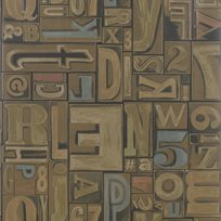 Ralph Lauren Copeley Letterpress Fruitwood Tapet
