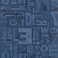 Ralph Lauren Copeley Letterpress Ink Tapet