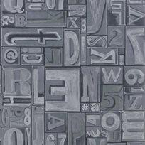 Ralph Lauren Copeley Letterpress Zinc Tapet