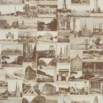 Ralph Lauren New York Postcard Sepia Tapet