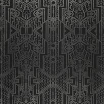 Ralph Lauren Brandt Geometric Charcoal Tapet