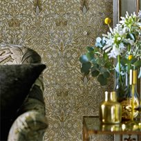 William Morris Snakeshead Gold/Linen