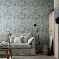 William Morris & co Pure Honeysuckle & Tulip Cloud Grey Tapet