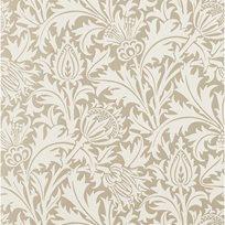 William Morris & co Pure Thistle Gilver (beaded) Tapet