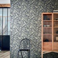 William Morris & co Pure Thistle Black Ink Tapet